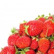 Bright juicy strawberries closeup isolated — Foto de Stock