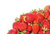 Bright juicy strawberries closeup isolated — Stock Photo