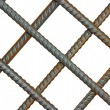 The lattice of reinforcing steel rods — Stock Photo