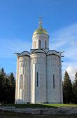 Christian Orthodox church of white stone — Stock Photo