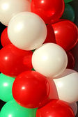 Background of colorful Inflatable balls — Stock Photo