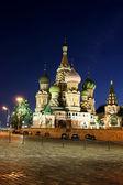 Katedrála bazalky požehnal v Moskvě — Stock fotografie