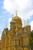 Uspenskoe courtyard Optina Pustyn monastery in St. Petersburg — Stock Photo