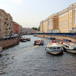 Stock Photo: River trips on canals of St. Petersburg
