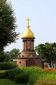 Christliche orthodoxe kapelle in st. petersburg — Stockfoto