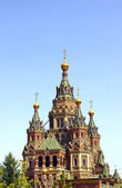 Peter and Paul Cathedral near Peterhof in St. Petersburg — Stock Photo