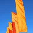 Several festive orange flags — Stock Photo #38117431