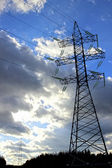Mast electrical power line — Foto Stock