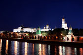 Moskauer Kreml bei Nacht — Stockfoto