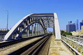 Railway Bridge in Moscow — Stock Photo