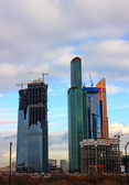 "Skyscrapers of Business Center ""Moscow-City""  — Stok fotoğraf"