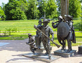 "Sculpture A. Taratynov by Rembrandt painting ""The Night watch"" — Stock Photo"