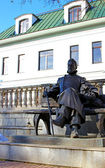 Bronze statue of A.P. Chekhov in Zvenigorod — Stock Photo