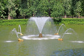 Fountain n Peterhof in St. Petersburg, Russia — Stock Photo