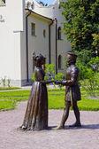 "Sculpture A. Taratynov by  ""Duke Federigo da Montefeltro of Urbino and his wife Battista Sforza, Duchess"" — Stock Photo"
