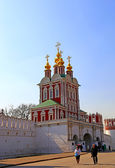 Celebrating Easter in the Novodevichy Convent in Moscow — Stockfoto