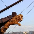 ������, ������: Nasal decoration ship in the form of a lion in St Petersburg R