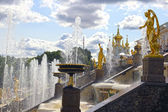 Cascade Fountain with sculptures in St. Petersburg, Russia — Stock Photo