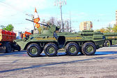 Military parade dedicated to Victory Day in World War II — Stockfoto