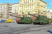 Parata militare dedicata alla giornata della vittoria nella seconda guerra mondiale — Foto Stock