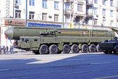 Vojenské přehlídce v moskvě — Stock fotografie