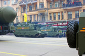 Military parade in Moscow — Stock Photo