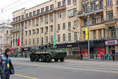 Military parade in Moscow — Stockfoto