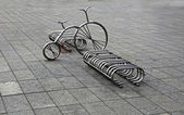 Bicycle parking in the square — Stock Photo