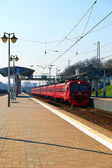 Aeroexpress Electric train Russian Railways in Moscow — Stock Photo