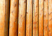Background of log stockade — Stock Photo