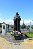Monument to Patriarch Alexy II in Minsk — Stock Photo