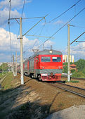 Electric train Russian Railways in Moscow — Foto Stock