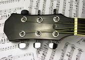 Een gitaar fretboard — Stockfoto