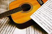 Music and notes — Foto de Stock