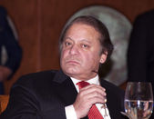 Pakistani Prime Minister Nawaz Sharif — Stock Photo