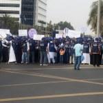 Peace March Participants — Stock Photo #9924085