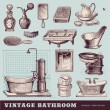 Vintage bathroom — Stock Vector #48981159