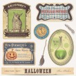 Set of halloween labels and design elements — Stock Vector #48981501