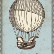 Vintage card with hot air balloon — Stock Vector #48981537