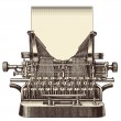 Vintage typewriter with a blank sheet of paper — Stock Vector #48982039