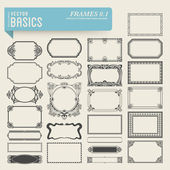 Hand-drawn frames and panels — Vector de stock