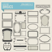 Set of hand-drawn frames — Vector de stock