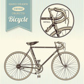 Hand-drawn vintage bike — Stock Vector