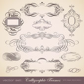 Set of calligraphic frames — Vetorial Stock