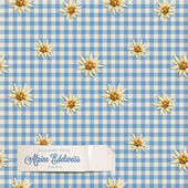 Alpine pattern with edelweiss flowers — Vecteur