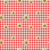 Alpine pattern with edelweiss — Vector de stock