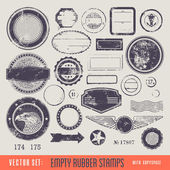 Empty rubber stamps — Stock Vector
