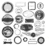 Set of rubber stamps — Vector de stock