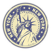 Grungy New York stamp — Stock Vector