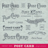 Set of vintage postcards — Stock Vector